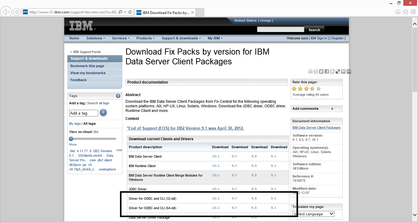 IBM homepage