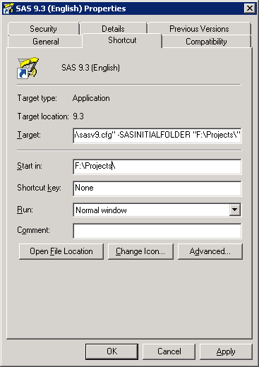 SASInitialFolder